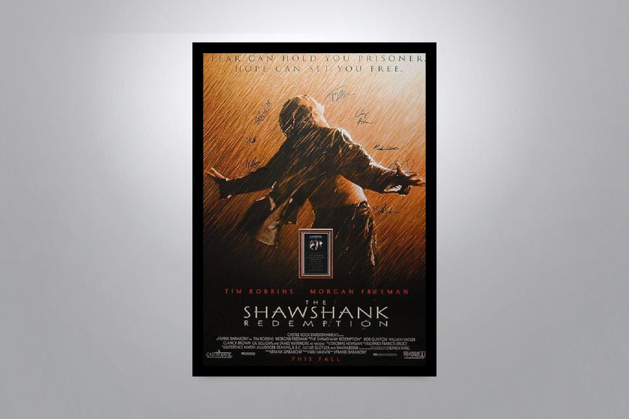 THE SHAWSHANK REDEMPTION - Signed Poster + COA