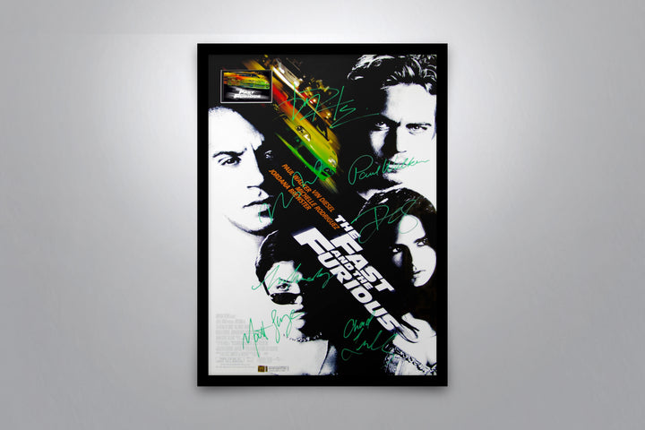 THE FAST AND THE FURIOUS - Signed Poster + COA - Poster Memorabilia