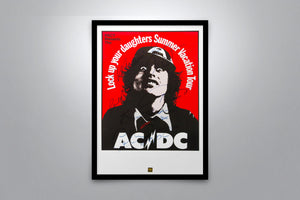 AC/DC: 1975 Summer Vacation Tour - Signed Poster + COA