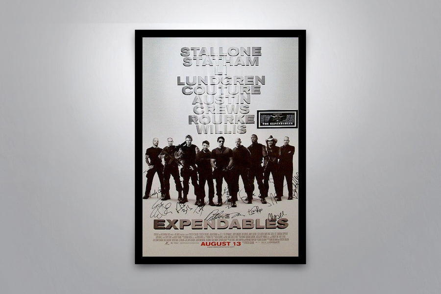 EXPENDABLES - Signed Poster + COA