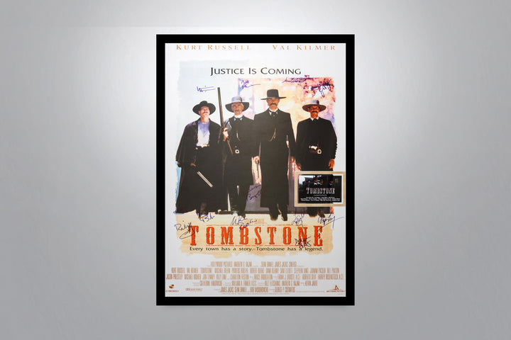 TOMBSTONE - Signed Poster + COA