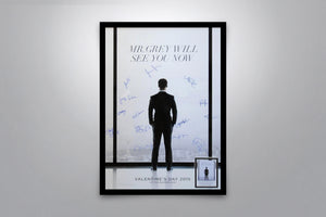 FIFTY SHADES OF GREY - Signed Poster + COA