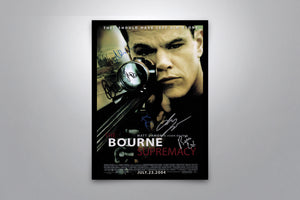 THE BOURNE SUPREMACY - Signed Poster + COA