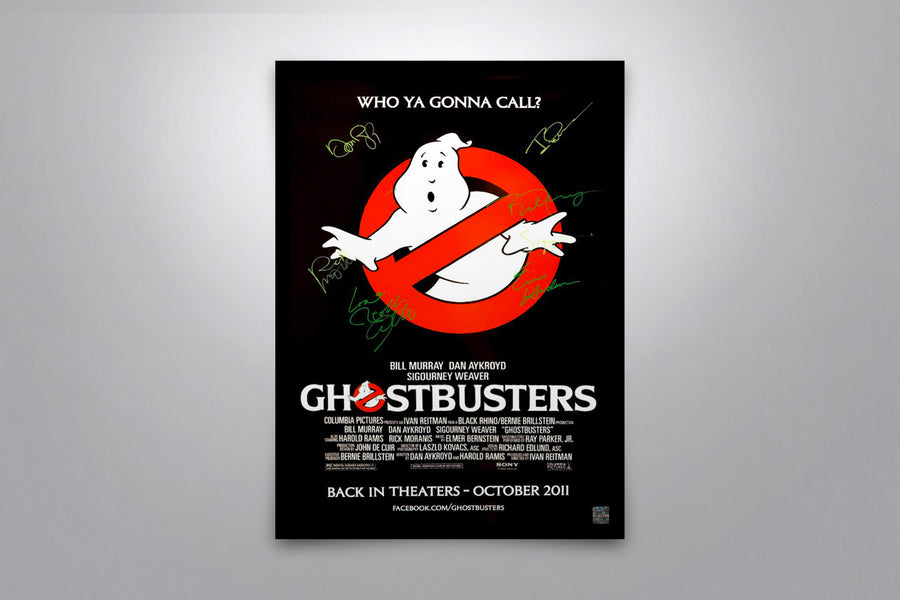 GHOSTBUSTERS - Signed Poster + COA