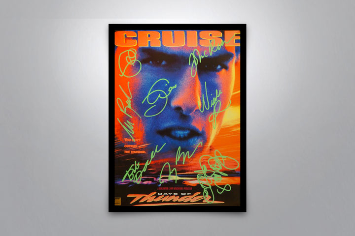 DAYS OF THUNDER - Signed Poster + COA