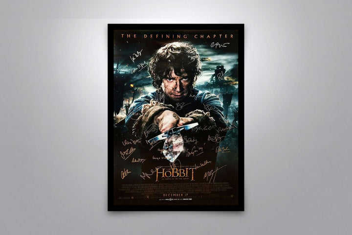 THE HOBBIT: The Battle of the Five Armies - Signed Poster + COA