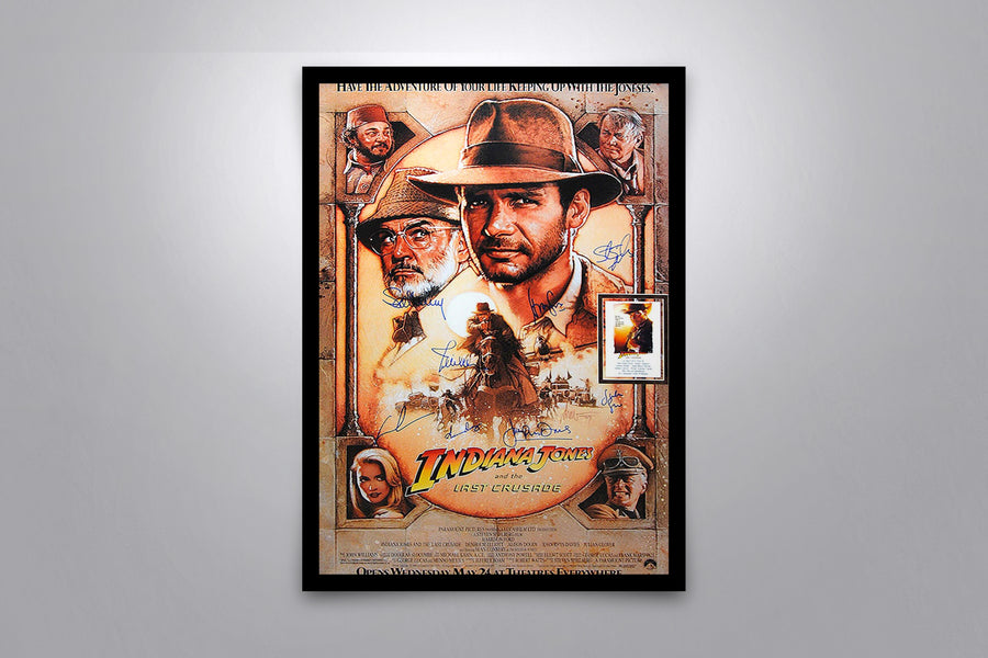 INDIANA JONES AND THE LAST CRUSADE - Signed Poster + COA