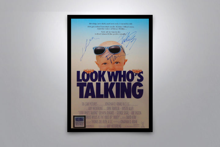 LOOK WHO'S TALKING - Signed Poster + COA