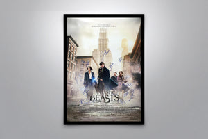 Fantastic Beasts and Where to Find Them - Signed Poster + COA
