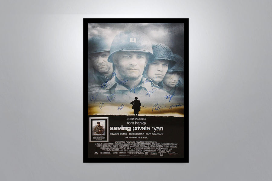 SAVING PRIVATE RYAN - Signed Poster + COA
