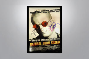 NATURAL BORN KILLERS - Signed Poster + COA