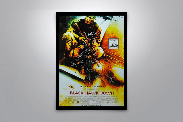 BLACK HAWK DOWN - Signed Poster + COA