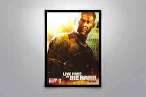 LIVE FREE OR DIE HARD - Signed Poster + COA