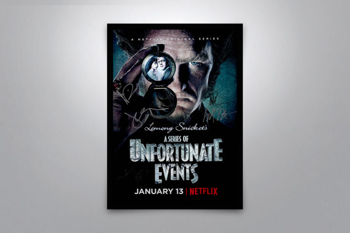A Series of Unfortunate Events (2017 TV Series) - Signed Poster + COA