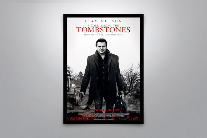 A Walk Among the Tombstones - Signed Poster + COA
