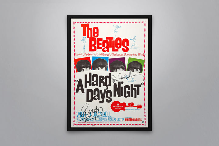 A Hard Day's Night - Signed Poster + COA
