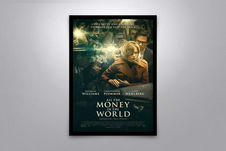 All The Money In The World - Signed Poster + COA