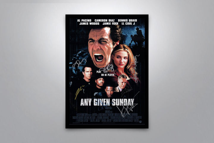 Any Given Sunday - Signed Poster + COA