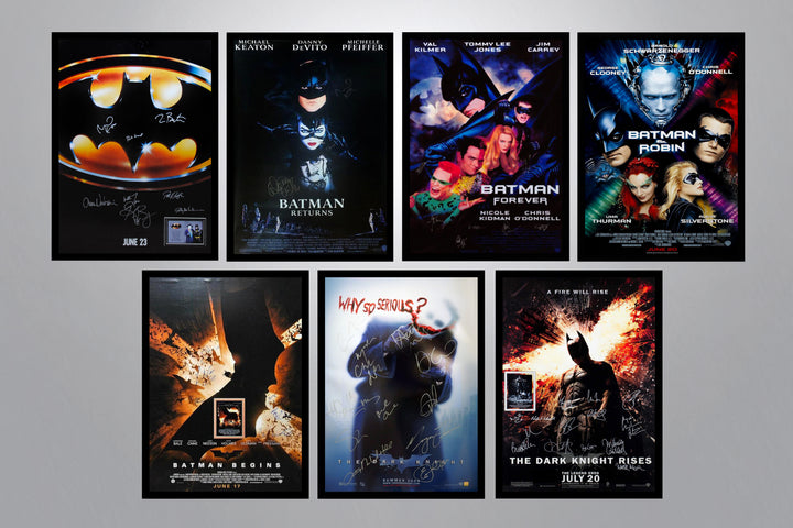 Batman Autographed Poster Collection