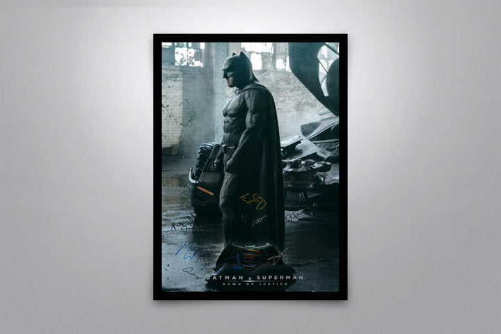 Batman, Dawn of Justice - Signed Poster + COA
