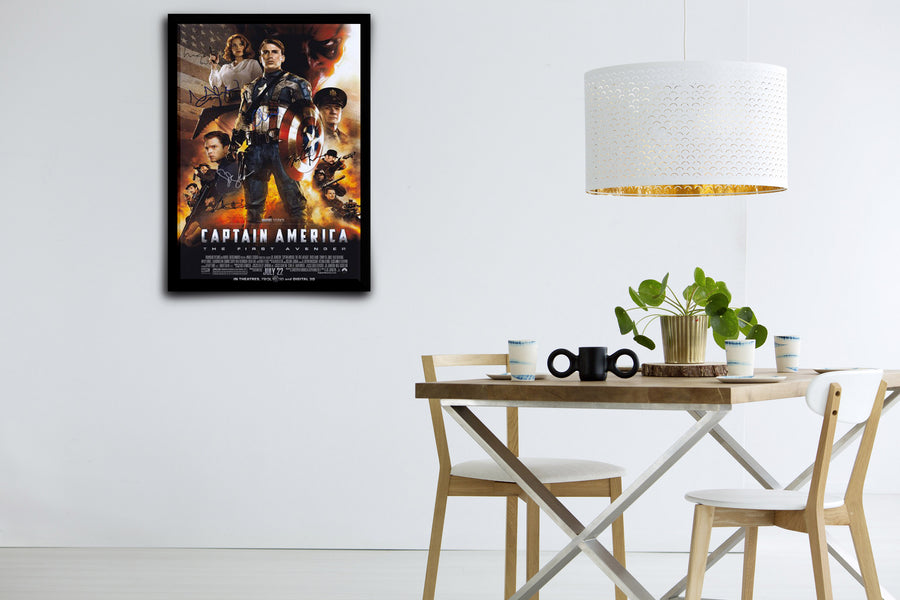 Captain America: The First Avenger - Signed Poster + COA