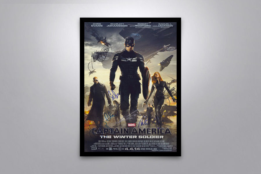 Captain America: The Winter Soldier - Signed Poster + COA