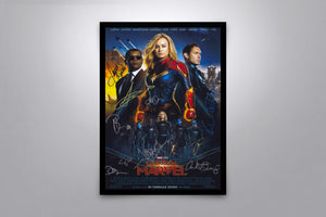 Captain Marvel - Signed Poster + COA
