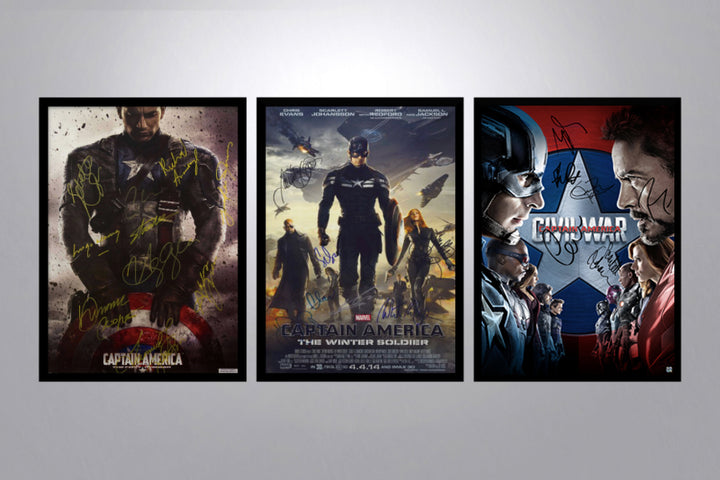 Captain America Autographed Poster Collection