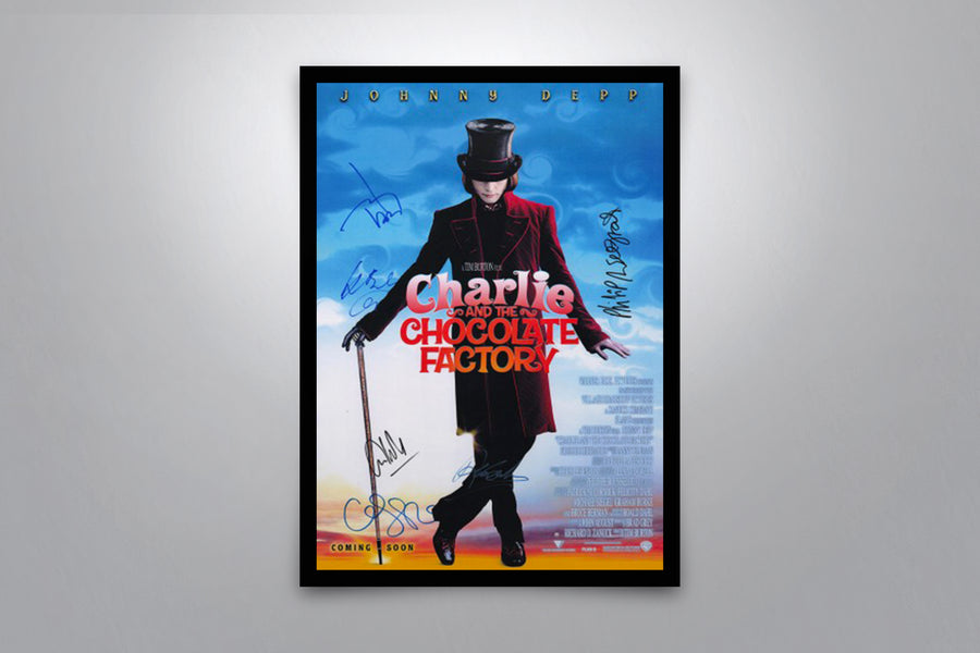 Charlie and the Chocolate Factory  - Signed Poster + COA