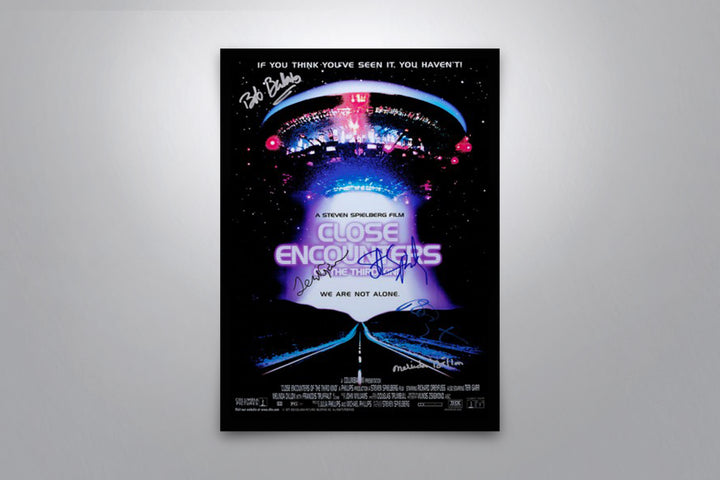 Close Encounters of the Third Kind - Signed Poster + COA