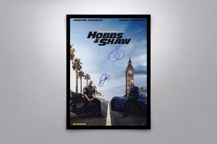 Fast & Furious: Hobbs & Shaw - Signed Poster + COA