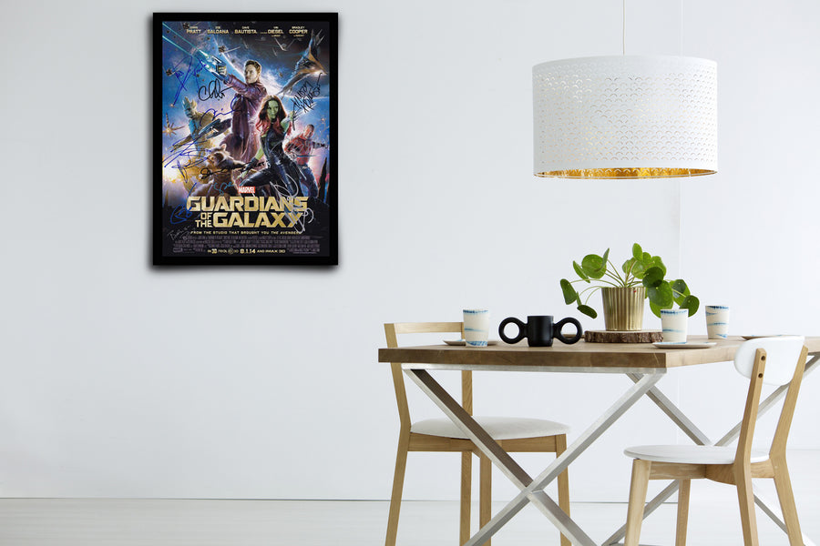 GUARDIANS OF THE GALAXY - Signed Poster + COA - Poster Memorabilia