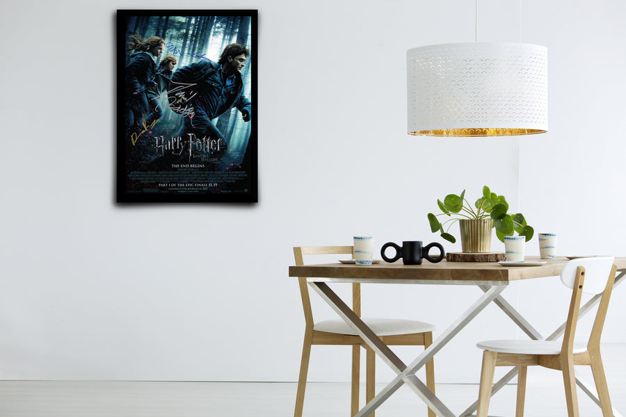 Harry Potter and the Deathly Hallows Part 1 - Signed Poster + COA