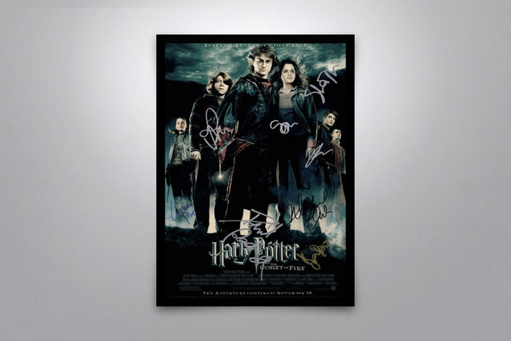 Harry Potter and the Goblet of Fire - Signed Poster + COA