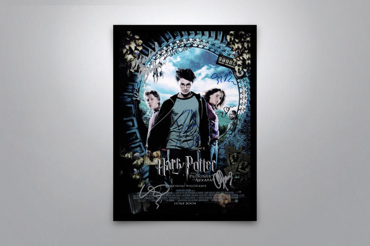 Harry Potter and the Prisoner of Azkaban - Signed Poster + COA