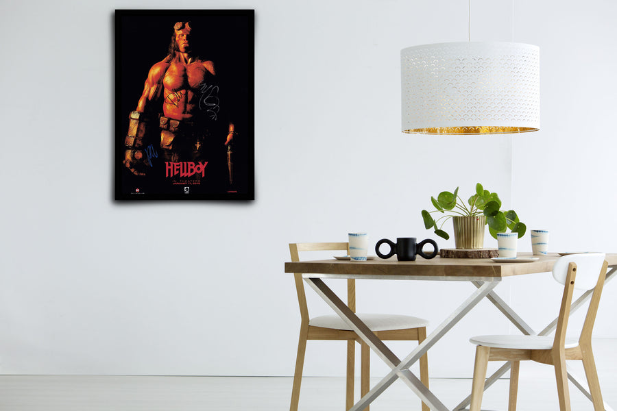Hellboy - Signed Poster + COA