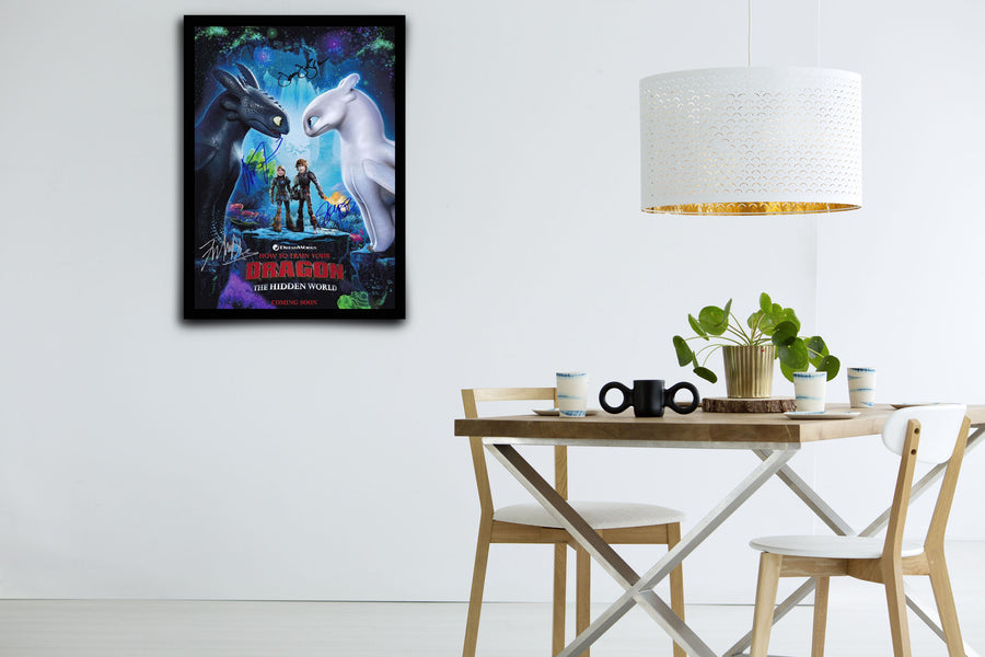 How to Train Your Dragon: The Hidden World - Signed Poster + COA