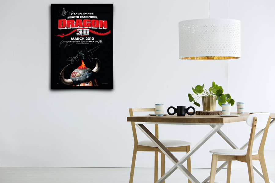 How to Train Your Dragon - Signed Poster + COA