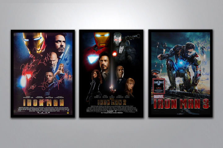 Iron Man Autographed Poster Collection