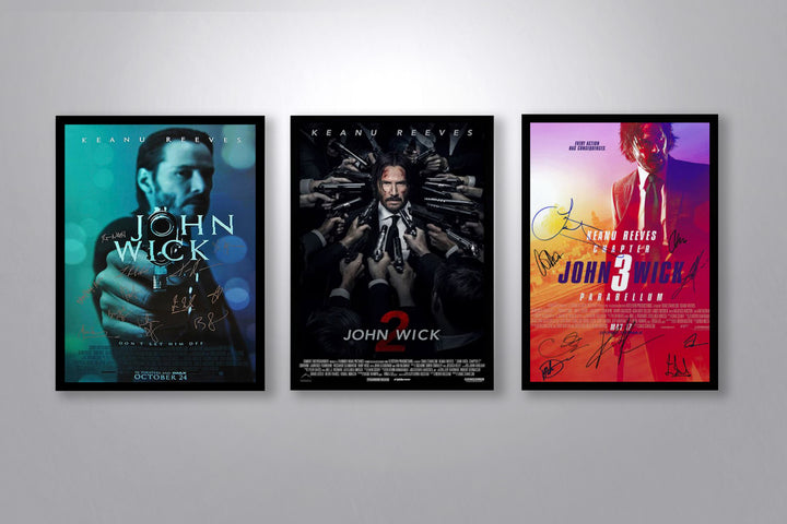 John Wick Autographed Poster Collection