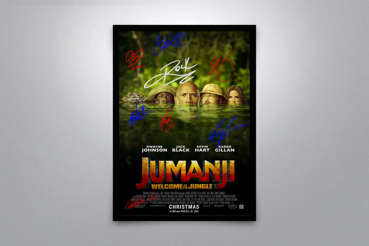 Jumanji: Welcome to the Jungle - Signed Poster + COA