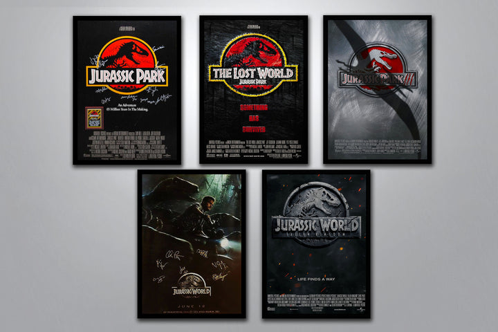 Jurassic Park Autographed Poster Collection