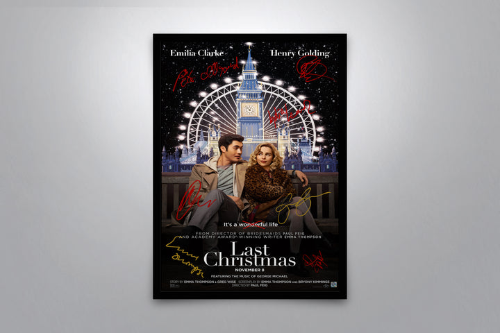 Last Christmas - Signed Poster + COA
