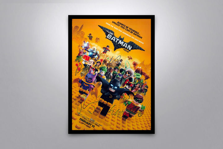 The Lego Batman Movie  - Signed Poster + COA