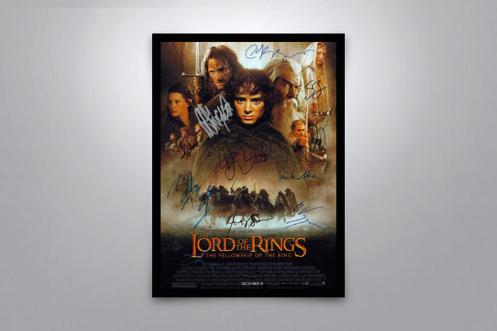 LORD OF THE RINGS: The Fellowship of the Ring - Signed Poster + COA