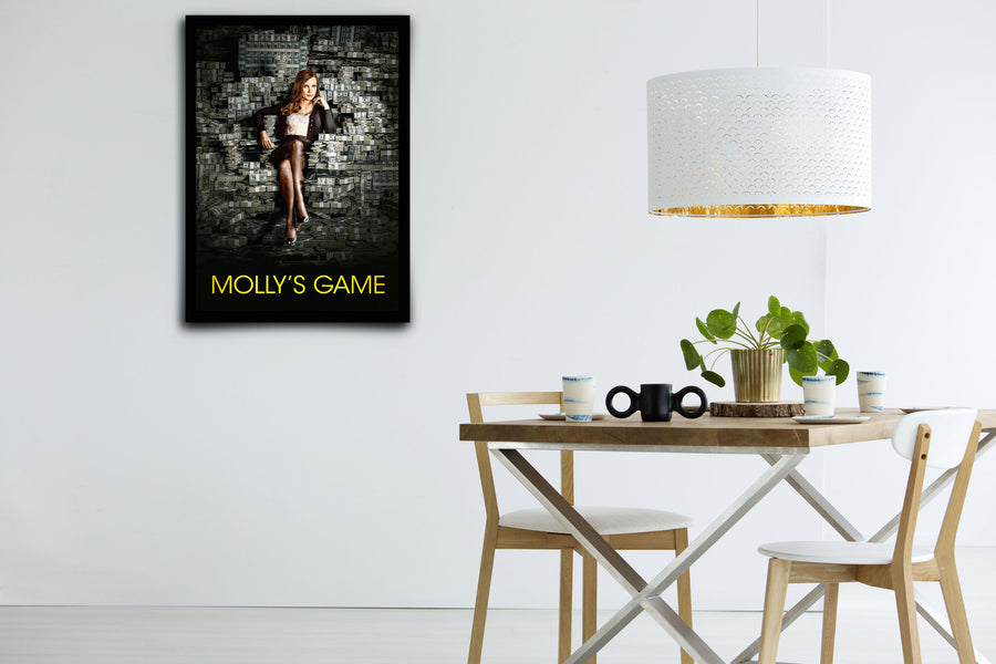 Molly's Game - Signed Poster + COA