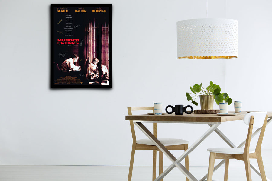 Murder In The First - Signed Poster + COA