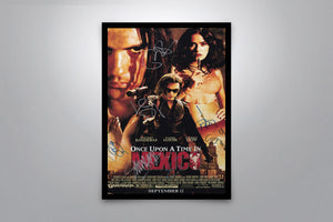 Once Upon a Time in Mexico - Signed Poster + COA