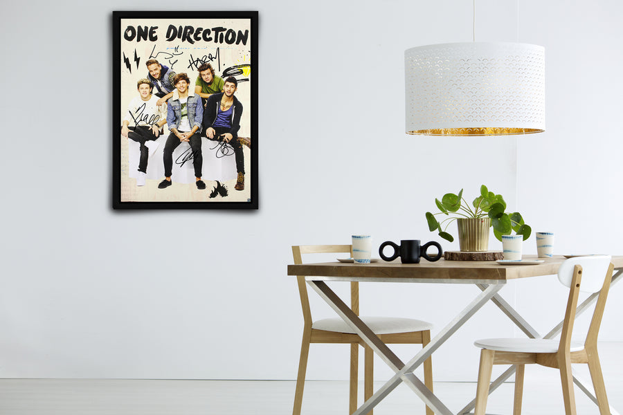 One Direction - Signed Poster + COA