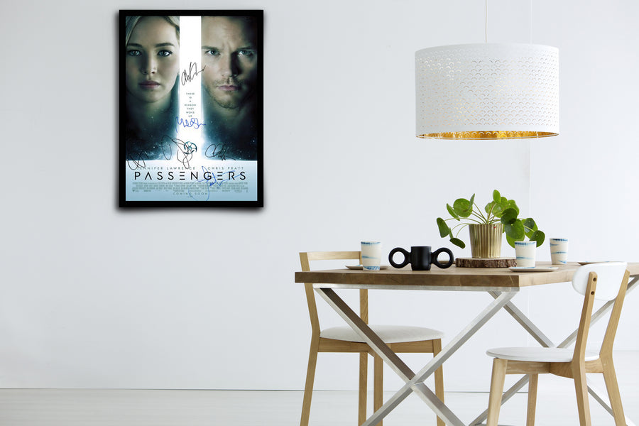 Passengers - Signed Poster + COA
